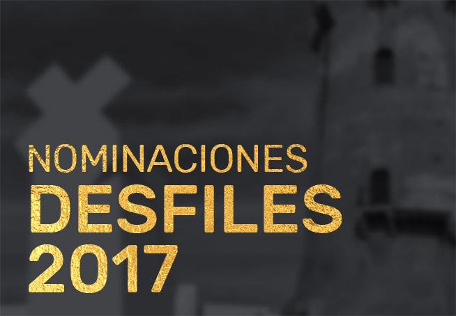 nominados desfiles 17