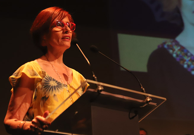 Mª Ángeles Salvador, presidenta de intercomparsas